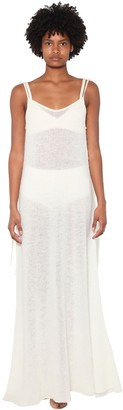 Alanui Crystal Embellished Alpaca Blend Dress
