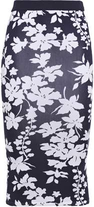 MICHAEL Michael Kors Floral-print Stretch-knit Pencil Skirt