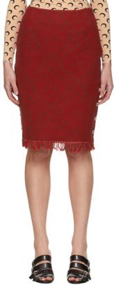 Marine Serre Red Moon Saturation Regenerated Carpet Skirt