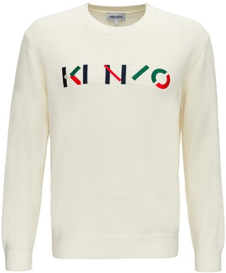 Kenzo Sweater With Multicoloured Logo Embroidery