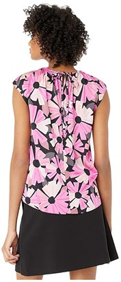 Kate Spade Wallflower Tie Neck Shell (Black) Women's Clothing