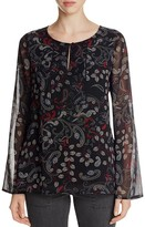 Sanctuary Violetta Printed Bell Sleeved Blouse