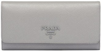 Prada Saffiano logo plaque wallet