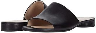 Ecco Flat Sandal II Slide (Black Cow Leather) Women's Shoes