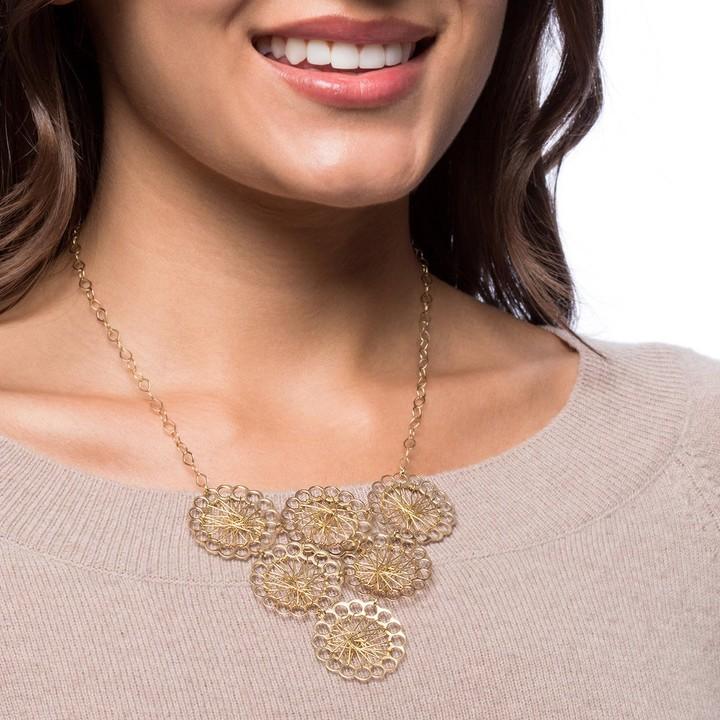 Necklace Brass chain link bib