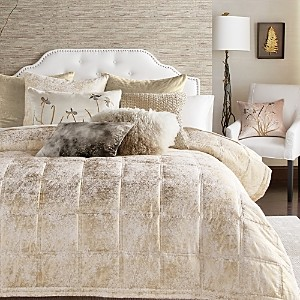 Michael Aram Quilted Metallic Textured Coverlet, King