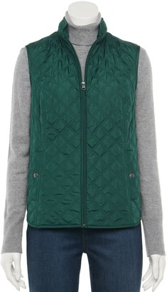 Croft & Barrow Women's Woven Quilted Vest