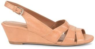 Comfortiva Randi Leather Slingback Wedge Sandal - Wide Width Available