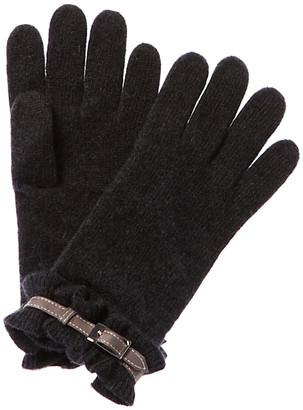 Portolano Ruffle Cashmere Gloves