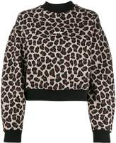 MSGM leopard print sweatshirt