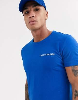 Calvin Klein Jeans Calvin Klein institutional box logo slim t-shirt-Blue