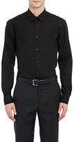 Z Zegna Men's Solid Poplin Shirt-Black
