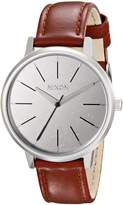 Nixon Women's A108747 Kensington Brown Leather Silver Dial Watch