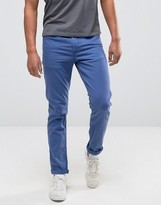 Asos Skinny Jeans In Bright Blue