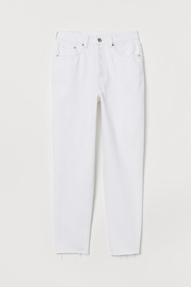 H&M Mom High Ankle Jeans - White