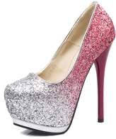 fereshte Womens Glitter Pointed-toe Platform High Heel Stiletto Dress Wedding Pump Shoes US Size 8