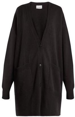 Raey Long-line Cashmere Grandad Cardigan - Womens - Black