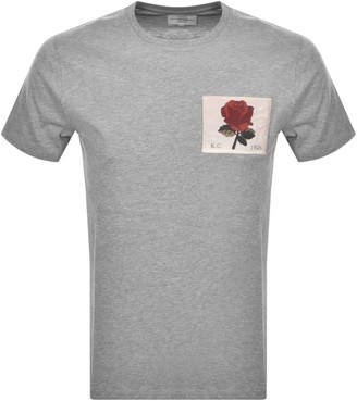 Kent And Curwen Anderson Rose T Shirt Grey