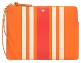 Tory Burch Foundation Striped Large Pouch