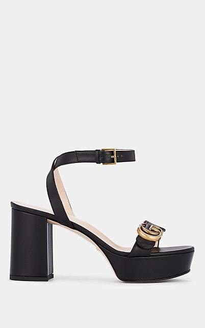 Women's Black Marmont Ankle Strap Leather Sandals 2WEDH9I