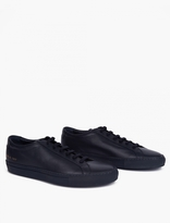 Common Projects Navy Leather Achilles Sneakers