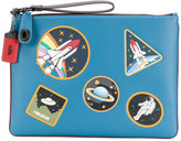 Coach space patch print clutch - women - Leather - One Size