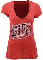 Majestic Women's Short-Sleeve Carolina Hurricanes V-Neck T-Shirt