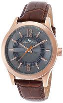 Lucien Piccard 40020-RG-014-BRW Men's Oxford Brown Genuine Leather Gunmetal
