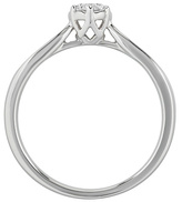 Enchanted 9ct Gold 0.33ct tw Diamond Solitaire Ring