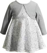 Youngland Baby Girl Sleeveless Lace Dress & Cardigan Set