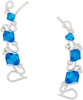 Capri Blue Rhine EarClimberZ With Swarovski® Crystals