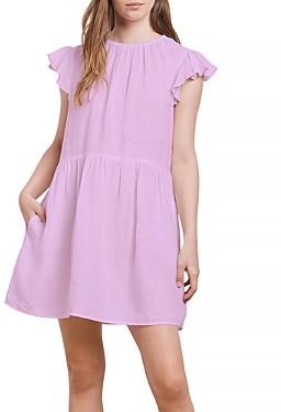 Velvet by Graham & Spencer Evonne Ruffle Sleeve Mini Dress