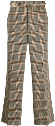 Needles Check Print Side Tab Trousers