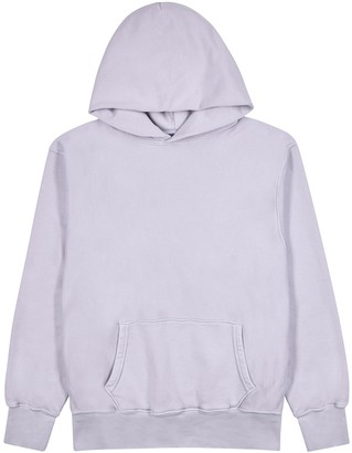 LES TIEN Panelled hooded cotton sweatshirt