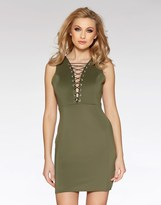 Quiz Lace Up Front Bodycon Dress