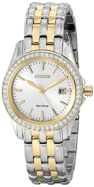 Citizen EW1908-59A Eco-Drive Silhouette Crystal Analog Watches