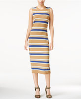 Rachel Roy Striped T-Shirt Midi Dress