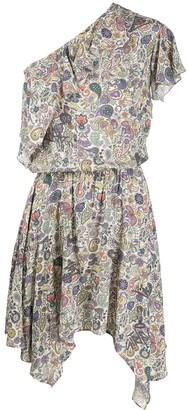 Zadig & Voltaire One Shoulder Draped Dress