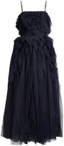 BCBGMAXAZRIA Eve Swarovski Crystal Embellished Tea-Length Dress
