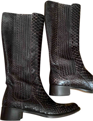 Non Signã© / Unsigned Brown Water snake Boots