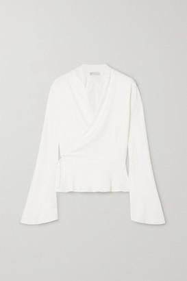 Vanessa Cocchiaro - Murasaki Matte-satin Wrap Blouse - Ivory