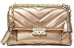MICHAEL Michael Kors Women's Medium Cece Quilted Metallic Leather Shoulder Bag