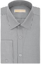MICHAEL Michael Kors Men's Non-Iron Classic-Fit Gray Stripe Dress Shirt