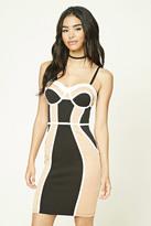 Forever 21 FOREVER 21+ Colorblock Slip Dress