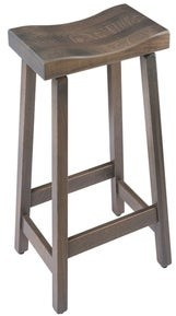 Overstock Saddle Bar Stool in Maple Wood