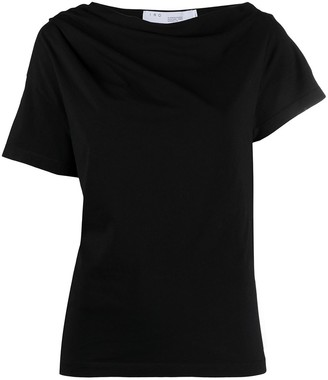 IRO gathered off-the-shoulder T-shirt
