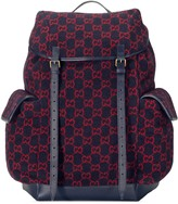 Gucci Large GG wool backpack