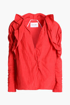 Thumbnail for your product : CARMEN MARCH Ruffled Crinkled-woven Blouse