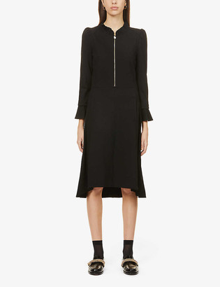 Me And Em Embellished stretch-knitted midi dress