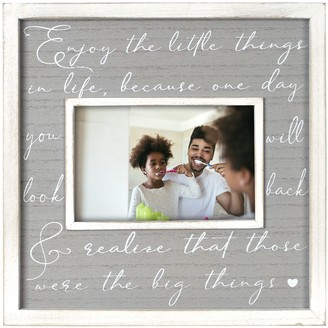 """New View Gifts & Accessories """"Enjoy the Little Things"""" Wide Wood Frame"""
